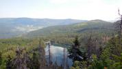 Fascinující pohled na Šumavu z Jezerní stěny
